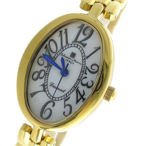 サルバトーレマーラ SALVATORE MARRA クオーツ レディース 腕時計 時計 SM17152-GDWH ホワイトシェル【楽ギフ_包装】【S1】