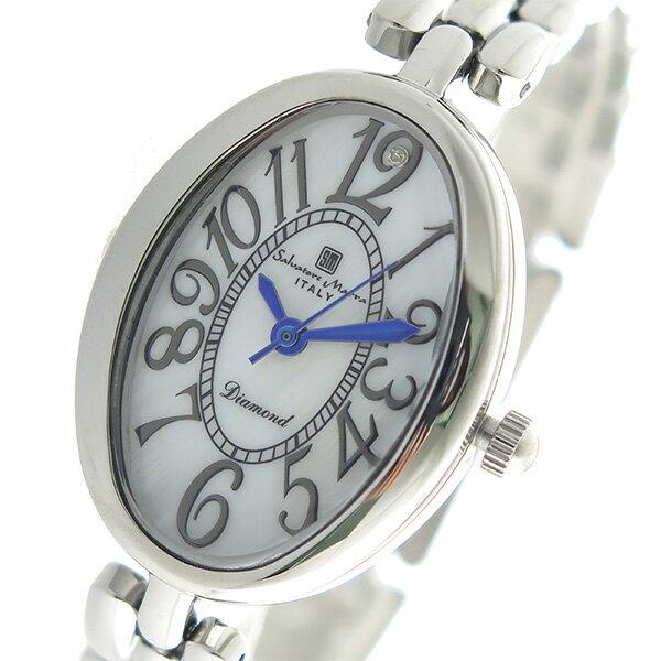 サルバトーレマーラ SALVATORE MARRA クオーツ レディース 腕時計 時計 SM17152-SSWH ホワイトシェル【楽ギフ_包装】【S1】