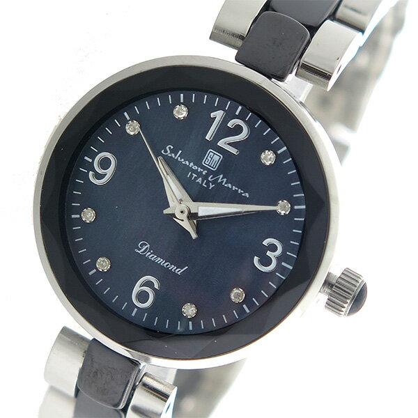 サルバトーレマーラ SALVATORE MARRA クオーツ レディース 腕時計 時計 SM17153-SSBKA ブラックシェル【楽ギフ_包装】【S1】