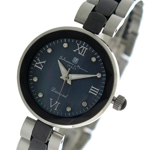 サルバトーレマーラ SALVATORE MARRA クオーツ レディース 腕時計 時計 SM17153-SSBKR ブラックシェル【楽ギフ_包装】【S1】