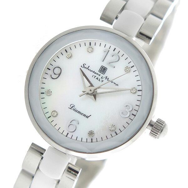 サルバトーレマーラ SALVATORE MARRA クオーツ レディース 腕時計 時計 SM17153-SSWHA ホワイトシェル【楽ギフ_包装】【S1】