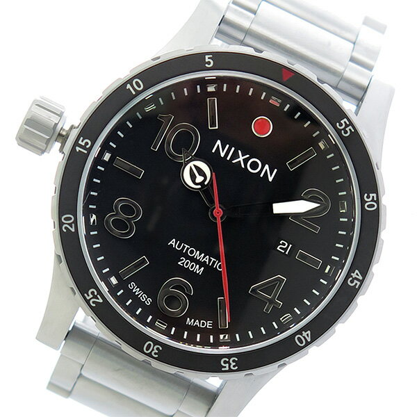 ニクソン NIXON ディプロマティック 自動巻き メンズ 腕時計 A429-000 ブラック/シルバー【送料無料】【ポイント10倍】【楽ギフ_包装】