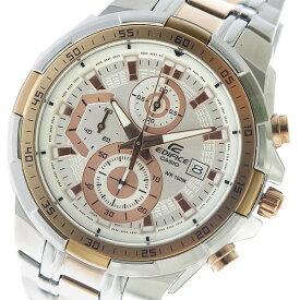 カシオ CASIO エディフィス EDIFICE クロノ クオーツ メンズ 腕時計 時計 EFR-539SG-7A5V ホワイト【ポイント10倍】