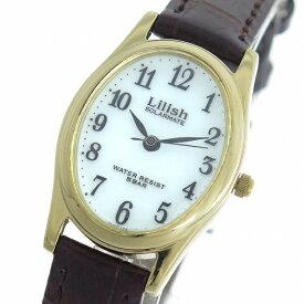 シチズン CITIZEN リリッシュ LILISH ソーラー クオーツ レディース 腕時計 時計 H053-104 ホワイト/ブラウン