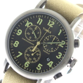 2c0c72faa3 タイメックス TIMEX インディグロ クオーツ メンズ レディース 腕時計 時計 TW2P85200 ブラック/ベージュ【ポイント10