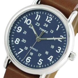 タイメックス TIMEX 腕時計 時計 メンズ TWG015000 ウィークエンダー クォーツ ネイビー ブラウン【ポイント10倍】