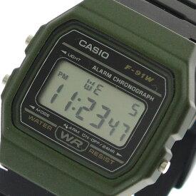カシオ CASIO 腕時計 時計 メンズ レディース F-91WM-3A クォーツ ブラック【ポイント10倍】