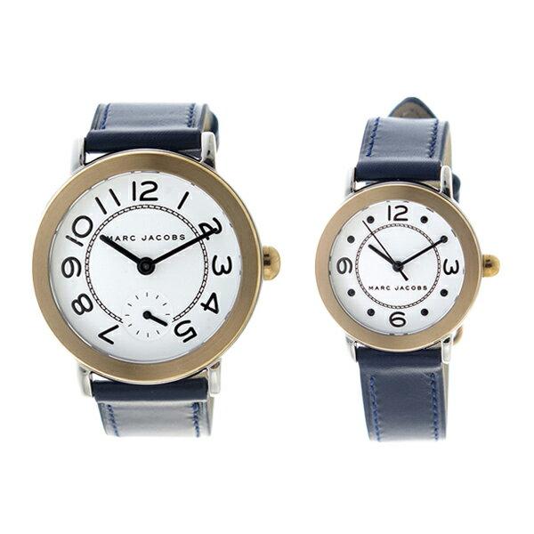 ペアウォッチ マークジェイコブス MARC JACOBS 腕時計 時計 メンズ レディース MJ1602 MJ1604 ライリー RILEY クォーツ ホワイト ネイビー【ポイント10倍】