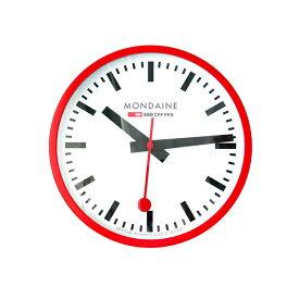 モンディーン MONDAINE 掛け時計 A995.CLOCK.11SBC レッド【ポイント10倍】