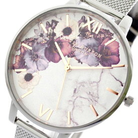 オリビアバートン OLIVIA BURTON 腕時計 レディース OB16MF09 クォーツ ホワイト シルバー ホワイト【送料無料】【ポイント10倍】