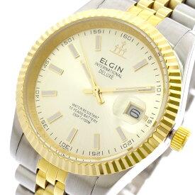 エルジン ELGIN 腕時計 メンズ FK1422TG-G クォーツ ゴールド シルバー ゴールド【ポイント10倍】