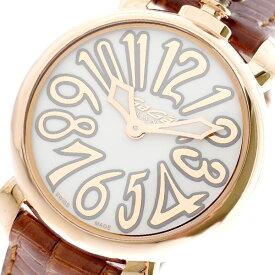 ガガミラノ GAGA MILANO 腕時計 レディース 6021.01LT マヌアーレ 35MM クォーツ ホワイト ブラウン ホワイト【送料無料】【ポイント10倍】