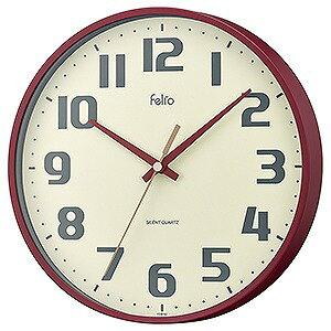 ノア精密 チュロス レッド felio 掛時計 FEW182 R-Z