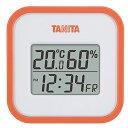 タニタ(TANITA) デジタル温湿度計 置き掛け両用タイプタイプ/マグネット付 オレンジ TT-558-OR【ポイント10倍】