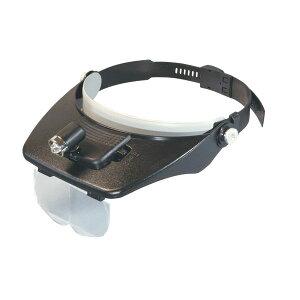 ヘッドルーペ 倍率1.2~3.5倍 レンズ径50×105mm バックル式バンド LEDライト付き 日本製 HL-7000LED /10点入り(代引き不可)【送料無料】