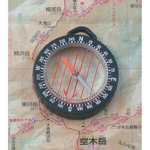 【MIZAR-TEC】ミザールテック オイル式地図用ポケットコンパス ルーペ付 ブラック 日本製 GS-33 /20点入り(代引き不可)【送料無料】