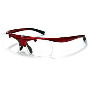 リーディンググラス DR-003 レッド 跳ね上げ式老眼鏡 レッド/度数+3.0/6点入り(代引き不可)【送料無料】
