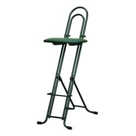 ジャンボベストワークチェア 高さ調整式 折りたたみチェア 日本製 パイプ椅子 補助椅子 ワーキングチェア 折りたたみ式(代引不可)【送料無料】【S1】