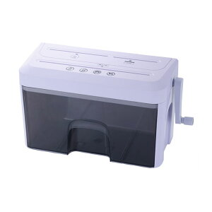 シュレッダー 手動式 ハンドシュレッダー 3WAY CDカッター カードカッター A4サイズ対応 事務用品 オフィスワーク プライバシー(代引不可)【送料無料】