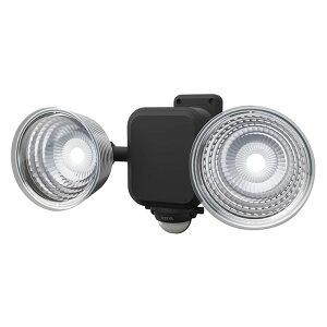 LEDセンサーライト ムサシ RITEX ライテックス LED-265 乾電池式 3.5W×2灯 明るさ600ルーメン フリーアーム式 人感センサーライト 屋外 防犯 防犯グッズ 玄関(代引不可)