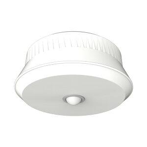 LED シーリングライト RITEX ライテックス リモコン付き ムサシ 乾電池式 屋外用 センサー 8.5W 480ルーメン カーポート(代引不可)【送料無料】