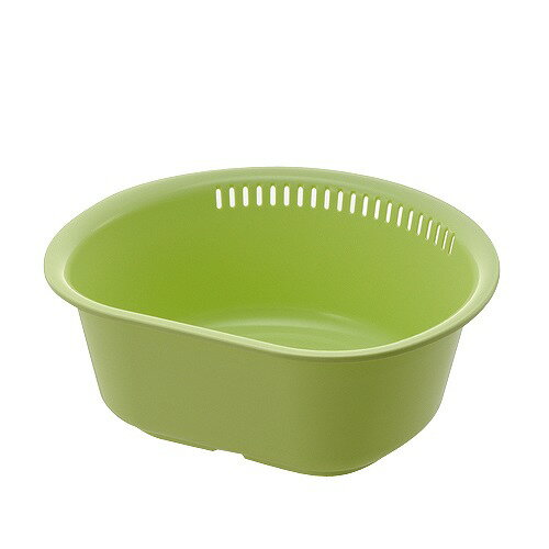 リッチェル Lei(レイ) 洗い桶D型L G(グリーン)【ポイント10倍】