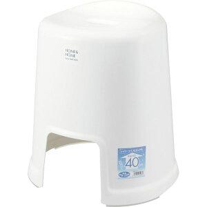 リス 風呂椅子 HOME&HOME 高さ40cm ホワイト (バスチェア 風呂 いす) (代引不可)