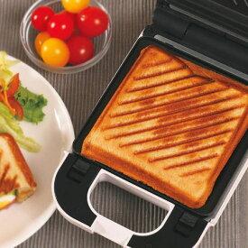着脱式シングルホットサンドメーカー KDHS-003W 耳 6枚切り食パン対応 プレスサンドメーカー 厚焼き 1枚焼き【送料無料】