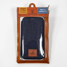 BSJ UK Trident iPhoneXsMAX Slimモデル 手帳型ケース PSDSPC-IPHXsM-UB19S ダークブルー
