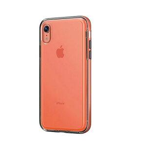 UI iPhoneXR INO ACHROME SHIELD CORAL INO-300649 スマホ 携帯 ケース カバー 保護 韓国 防止 コーラル