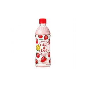【まとめ買い】サンガリア まろやかいちご&ミルク P 500ml x24個セット まとめ セット セット買い 業務用(代引不可)【送料無料】