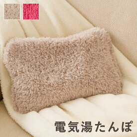 蓄熱式もこもこ湯たんぽ 充電式 2色(ピンク/ブラウン)コードレス【送料無料】