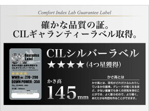 日本製羽毛布団クイーン掛けふとん【CILシルバーラベル】ホワイトダックダウン羽毛のためのアレルGプラス5年保証