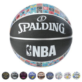 SPALDING バスケットボール 5号球 NBA公認 ラバー 野外 柄物 小学校 ミニバス バスケ【ポイント10倍】
