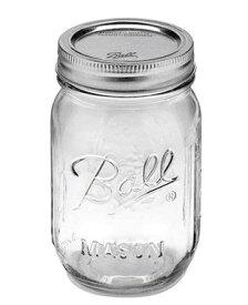 正規品 メイソンジャー Ball Mason jar 16oz レギュラーマウス オリジナル クリア mason1 単品 約480ml【ポイント10倍】