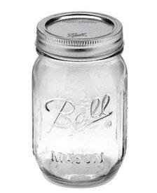 正規品 メイソンジャー Ball Mason jar 16oz 4個セット レギュラーマウス オリジナル クリア mason1 約480ml【ポイント10倍】