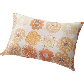 洗える枕 カバーセット フラワードット オレンジ Fドット 寝装品 繊維雑貨 枕(代引不可)【ポイント10倍】
