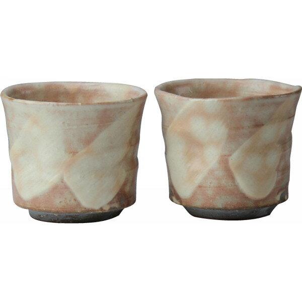 萩焼 刷毛目 ペアロック碗 和陶器 和陶バラエティー バラエティカップ 68017(代引不可)【ポイント10倍】