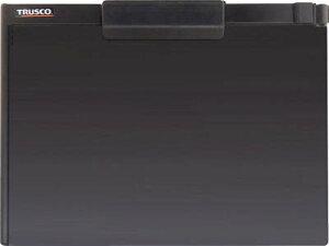 TRUSCO ペンホルダー付クリップボード(マグネット付) A4横 黒 TCBMA4SBK
