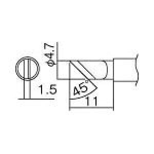 白光 こて先 KR型【T12-KR】(はんだ・静電気対策用品・ステーション型はんだこて)