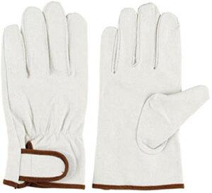 シモン 豚本革手袋マジック式717豚白L 4130803
