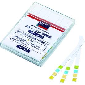 TRUSCO トラスコ スティックpH試験紙 (pH0~14) TPHSC14【ポイント10倍】