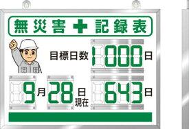 ユニット デジタル無災害記録表 454×604×25厚【867-18A】(安全用品・標識・安全標識)