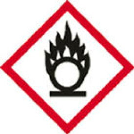 緑十字 GHSステッカー標識 円上の炎 70×70mm 5枚組 PET【37202】(安全用品・標識・安全標識)