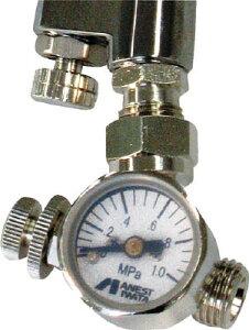 アネスト岩田 ロータリー式手元圧力計【AJR-02L-VG】(塗装・内装用品・スプレーガン)