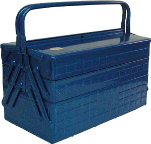 TRUSCO 3段式工具箱 412X220X343 ブルー【GT-410-B】(工具箱・ツールバッグ・スチール製工具箱)