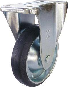 ユーエイ 新型プレスキャスター固定車 130径ゴム車輪【PMR-130WB】(キャスター・プレート式ゴム車)