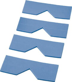 TRUSCO エッジクッションテープ コーナー用4枚入 ブルー【TECC-50B】(安全用品・標識・安全クッション)