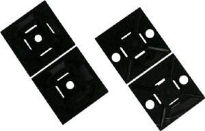 パンドウイット マウントベース アクリル系粘着テープ付き 白【ABM1M-AT-M】(電設配線部品・ケーブルタイ)