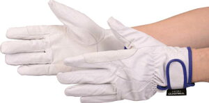 TRUSCO マジック式防寒豚本革手袋 当て付タイプ LLサイズ【TWLG-LL】(作業手袋・革手袋)